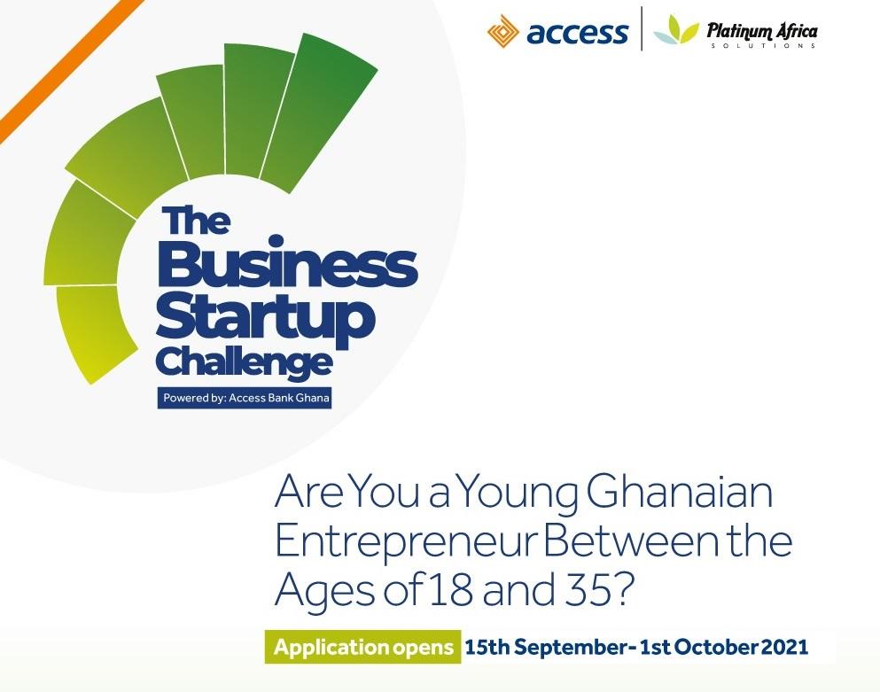 Access Bank Ghana Business Startup Challenge 2021 for Entrepreneurs (GHS 30,000 prize)