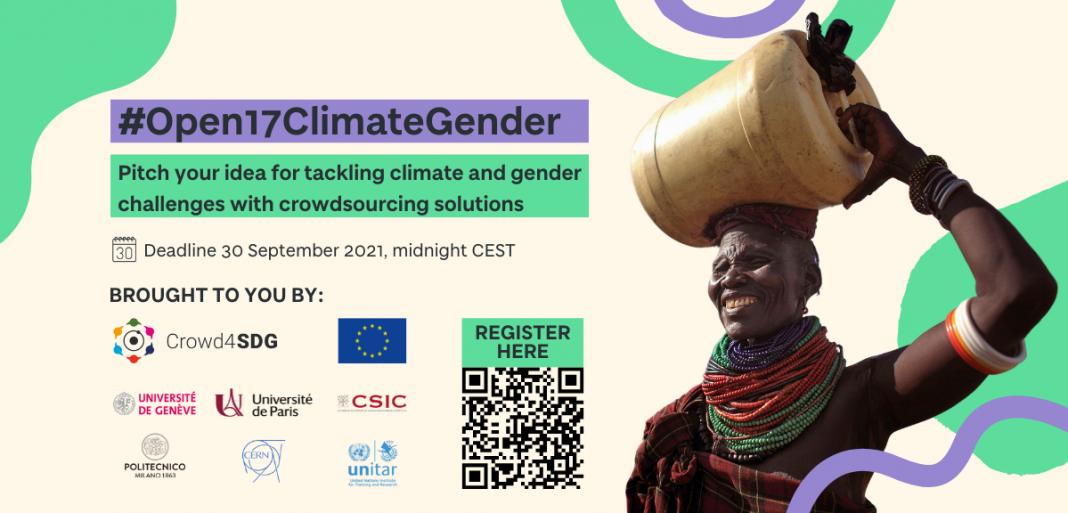 Crowd4SDG #Open17ClimateGender Challenge 2021 for Global Innovators