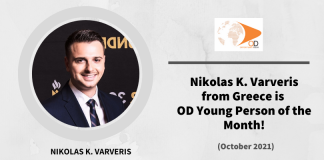Nikolas Varveris from Greece is OD Young Person of the Month for October 2021!