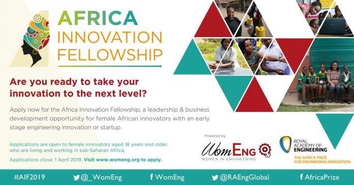 WomEng Africa Innovation Fellowship (AIF) 2021 for women African innovators.