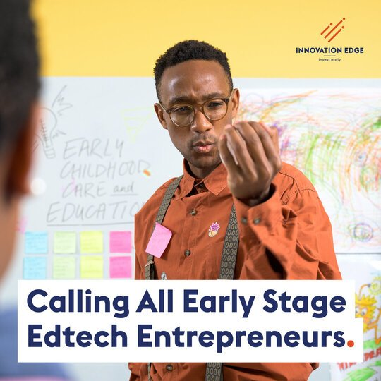 Innovation Edge Innovation Challenge 2021 for South African educational technology (edtech) solutions.