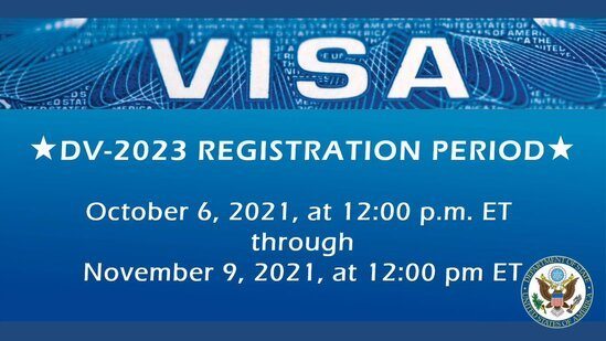 USA State Department Electronic Diversity Immigrant Visa Program (DV-2023): Live and Work in the United States of America.