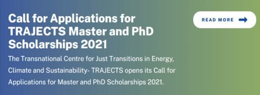 TRAJECTS Master and Ph.D. scholarships 2021
