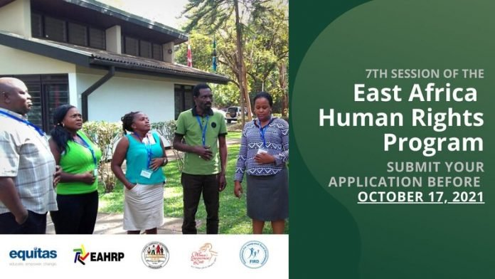 Equitas East Africa Human Rights Program 2022 for East Africans (Bursary Available)