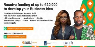 Orange Corners Nigeria Incubation Programme 2022 for young Entrepreneurs (40,000 Euros in Business Funding)