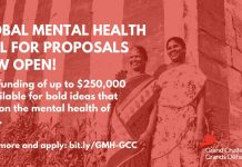 Grand Challenges Canada Global Mental Health Program 2021 (up to $250,000 CAD)